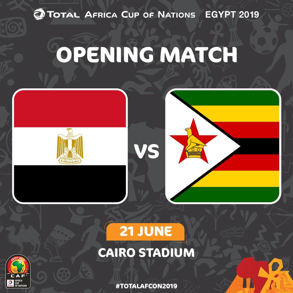 نتيجة اولى مباريات كاس الامم الافريقيه التي تقام بين فريقي مصر وزيمبابوي
