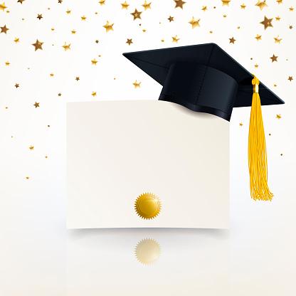 رصف علمي سن قبعات تخرج لون ذهبي Sjvbca Org